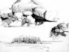 untitled, 3 Schoodic sketches